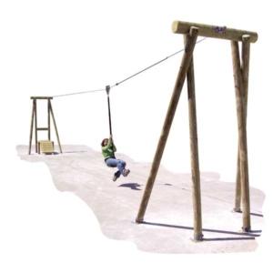 Tyroliennes pour aires de jeux
